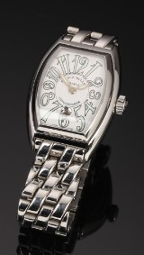 Franck Muller 'Conquistador Lady'. Ladies watch, steel with date