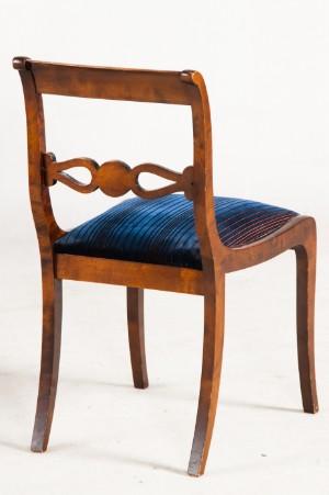 set von 6 st hlen 2 armlehnst hle vier ohne armlehne im biedermeierstil 6. Black Bedroom Furniture Sets. Home Design Ideas