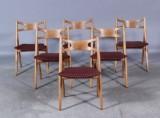 H. J. Wegner. Sawhorse chairs (6)