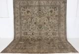 Handknuten äkta matta, Tabriz, 390x300 cm