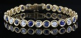 Diamond and sapphire bracelet in 18kt approx. 2.80ct