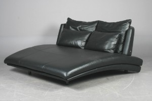 m bel rolf benz longchair chaiselongue schwarzes leder dk esbjerg oddesundvej. Black Bedroom Furniture Sets. Home Design Ideas