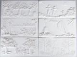 Astri Bergman Taube 6 väggreliefer