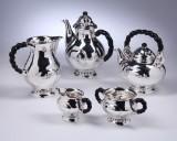 Skønvirke / Danish Art Nouveau tea and coffee service, silver, 1917-18 (5)