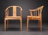 Hans J. Wegner. A pair of chairs, China Chair, cherry, model FH 4283