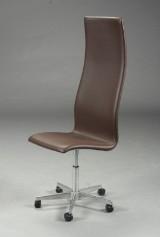 Arne Jacobsen. Højrygget Oxford kontorstol, nybetrukket