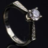 Brilliant-cut diamond ring, approx. 0.58 ct.