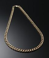 Halskæde i 14 kt guld, panser mønster