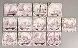 Samling hollandske fliser, 1800-tallet (13)