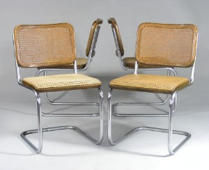 marcel breuer vier freischwinger f r thonet modell b32 4. Black Bedroom Furniture Sets. Home Design Ideas