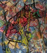 Hans Oldau Krull. 'Tiger', acrylic on canvas