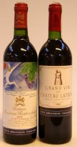 2 fl. Bordeaux 1. Cru Classé årgang 1982