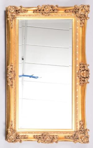 spejl med guldramme Facetslebet spejl med guldramme | Lauritz.com spejl med guldramme