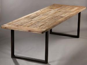Vare: 3101763 Langbord/Spisebord i fransk antik landstil. Af genanvendt gammelt elmetræ