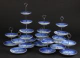 Bing og Grøndahl /Kgl. Samling opsatser af porcelæn lavet af platter (10)