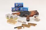 Mauser C96 kal 7,63 med kolbe samt patroner (2)