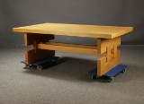 Dansk møbelproducent. Skrivebord / spisesbord, 1970'erne