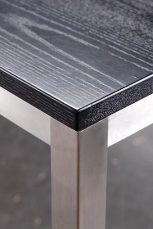 Vare: 3059230 spisebord / arbejdsbord, stel af børstet stål, plade ...
