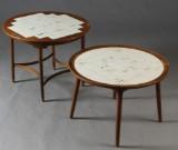 Dansk møbelproducent. To sofaborde, 1940/50'erne (2)