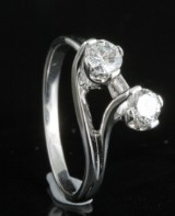 Diamond u and me ring in 18kt approx. 0.50ct