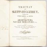 Chapman Tractat om skepps-byggeriet 1775