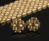 Vintage gold bracelet with earrings (3)