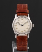 Rolex Oyster Perpetual. Vintage mid-size watch, steel with pale dial, c. 1958