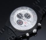 Techno Marine 'Chronograph'. Unisexur i plast og stål med sølvfarvet skive, 2000'erne