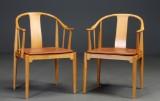 Hans J. Wegner. Pair of China chairs (2)
