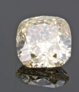 1 loose cushion mod. fancy brownish yellow diamond 1.72ct With GIA cert