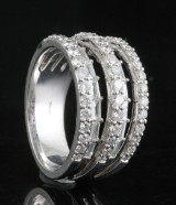 Ring in 18kt. with diamonds approx. 1.65ct.