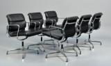 Charles Eames. A set of six Soft Pad armchairs, Model EA-208 (6)