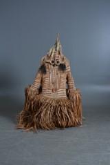 Asmat, Kasuarinakusten, New Guinea. 'Jipae' dance costume