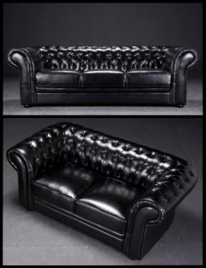 ware 3581987 chesterfield sofas schwarz 2. Black Bedroom Furniture Sets. Home Design Ideas