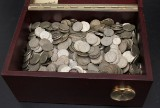 Collection of Swedish silver coins in two boxes