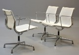 Charles Eames. Three chairs, model EA-108 / woven net (3)