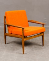 Arne Vodder. Easy chair, 1950's-1960's. Teak and wool