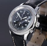 Longines 'Weems Chronograph No. 5'. Men's watch, steel, with black dial, c. 2002