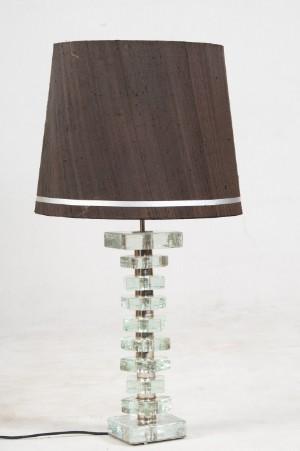 slutpris f r tischlampe mit glasfu. Black Bedroom Furniture Sets. Home Design Ideas