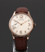 JeanRichard 'Bressel'. Men's watch, partly rose-gilt steel with separate second hand