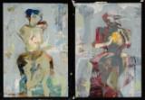 Janusz Tyrpak, olie på plade, to abstrakte kompositioner, cd