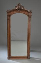 Spejl af egetræ, rokoko stil, 1800-tallet