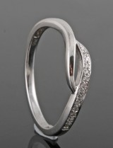 Diamond ring, 18kt. white gold, approx. 0.08ct