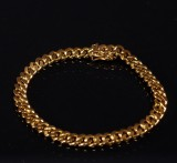 Armband, guld 18K, pansarlänk, 25,6 gram