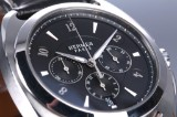 Hermes 'Dressage Chronograph'. Herreur i stål med sort skive, 2000'erne