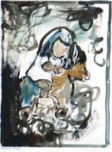 Gertrud Louise Sørensen. Abstrakt komposition.