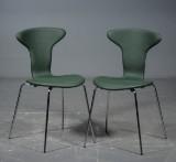 Arne Jacobsen, Munkegaardsstole, grøn læder (2)