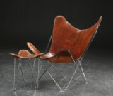 Butterfly Chair / Bat Chair with stool (2)