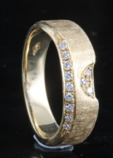 Handmade diamond ring in 18kt approx.0.13ct