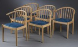 Andreas Hansen. Seks stole af egetræ 'BO1' (6)